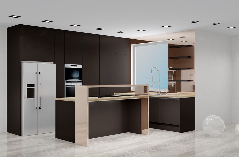 Grafický návrh kuchyne a 3D vizualizácia kuchyne