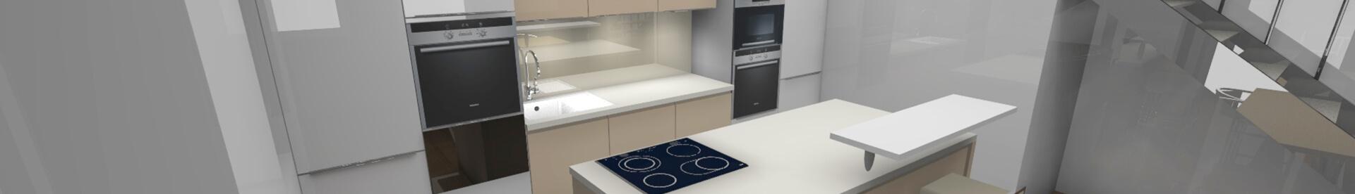 Vizualizácie kuchýn od DAN KUCHEN v 3D